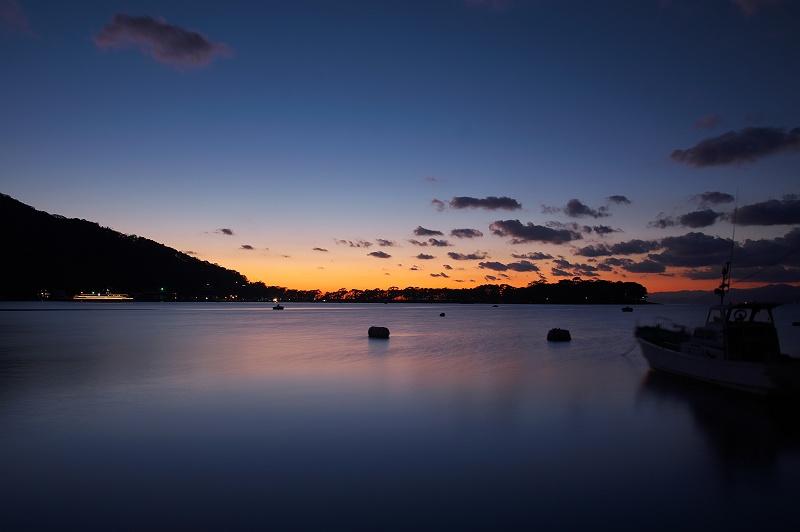 土肥港の夕暮れ