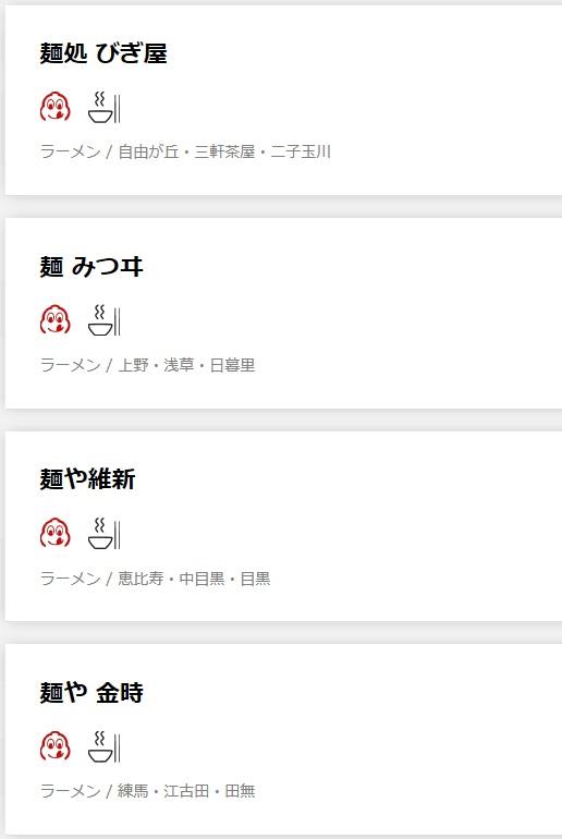 「ミシュランガイド東京 2019」に掲載されたラーメン店は一つ星が3店にビブグルマンは21店-5