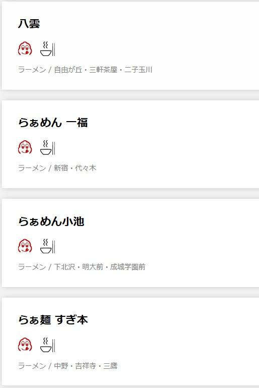 「ミシュランガイド東京 2019」に掲載されたラーメン店は一つ星が3店にビブグルマンは21店-6