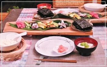 手巻き鮨で夕飯