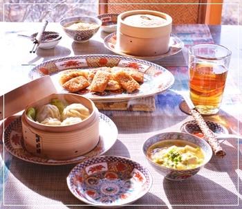 lunchは中華で
