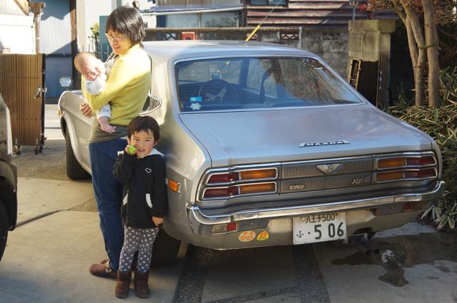 ルーチェと家族と黄色ステッカーにご注目 昭和石油ですよ