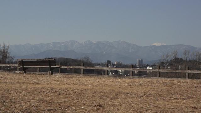 小山田緑地から見える丹沢と富士山