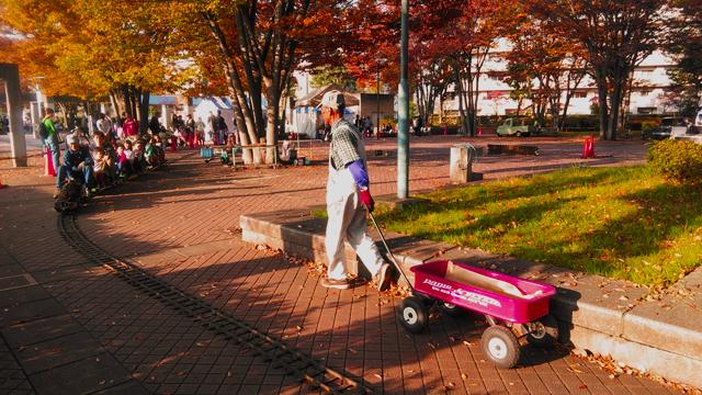 秋の気配漂う公園を行く