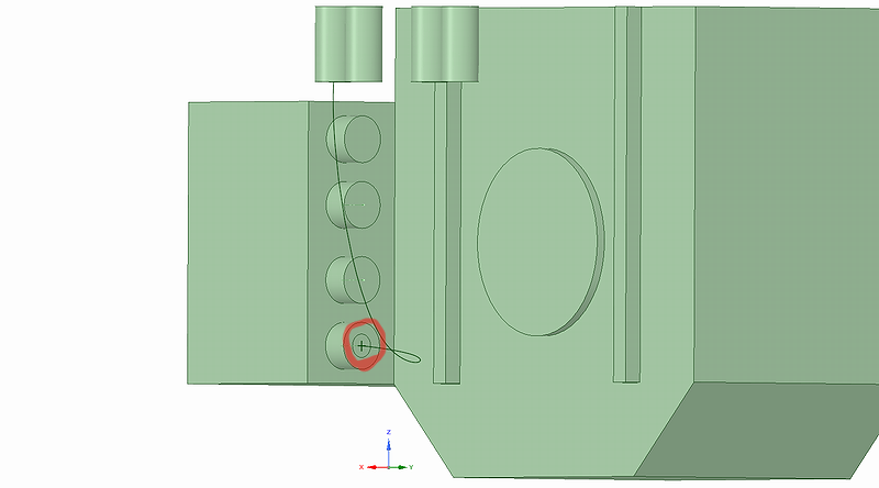配線の断面を描いて押し出す