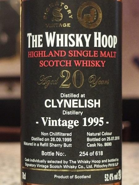 Whisky Hoop CLYNELISH 1995_L600