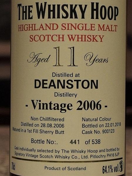 Whisky Hoop DEANSTON 2006_L600