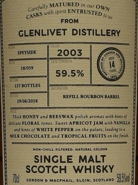 CONNOISSEURS CHOICE GLENLIVET 2003_L600