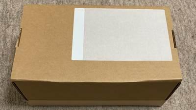 iPhoneを梱包した箱