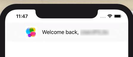Game CenterのWelcome back画面