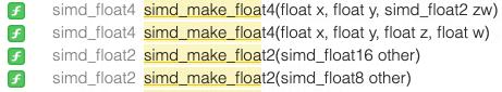 Xcodeのサジェスト内容