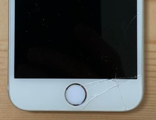 ガラスが破損したiPhone 6