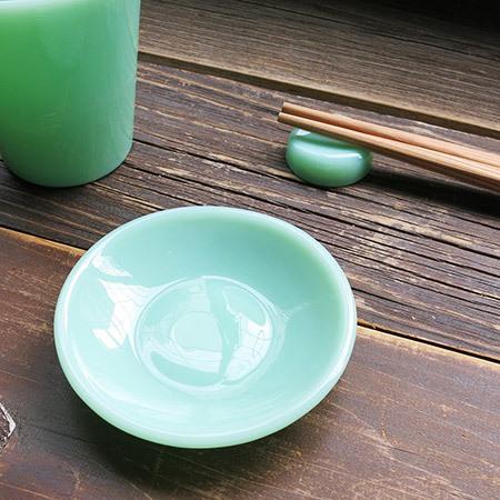 オールドミルクガラス Mame Zara(まめ皿)