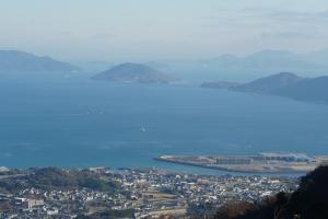 山から香西海岸