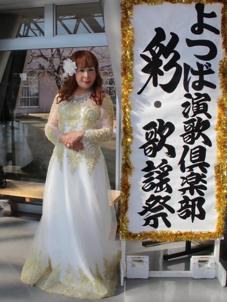 白地に金レース飾りドレスA(1)