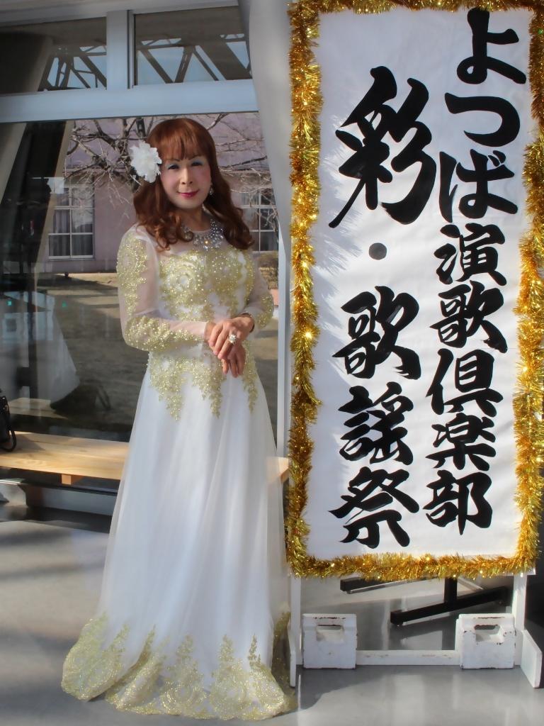 白地に金レース飾りドレスA(2)