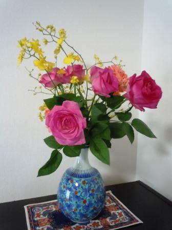 花(今右衛門花瓶)4