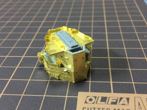 艦橋製作中 デュークオブヨーク -0297◆模型製作工房 聖蹟