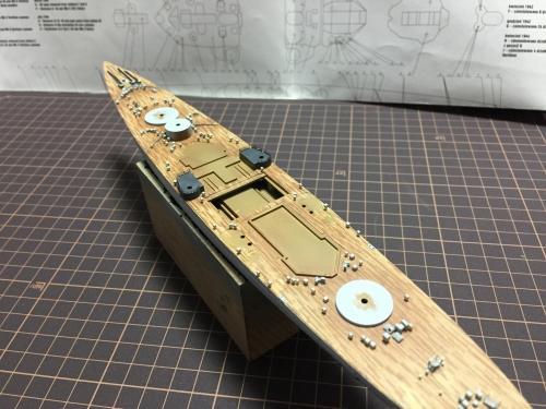 甲板製作中 0850 デュークオブヨーク◆模型製作工房 聖蹟