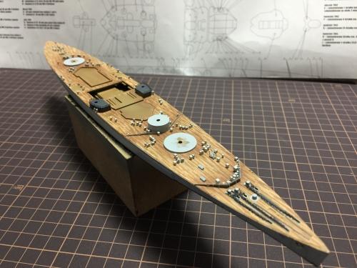 甲板製作中 0862 デュークオブヨーク◆模型製作工房 聖蹟