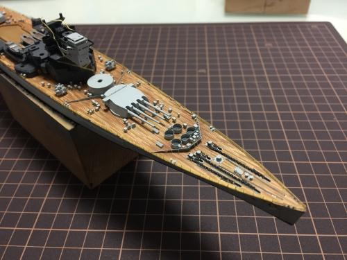 デュークオブヨーク 4連装砲設置-0995◆模型製作工房 聖蹟