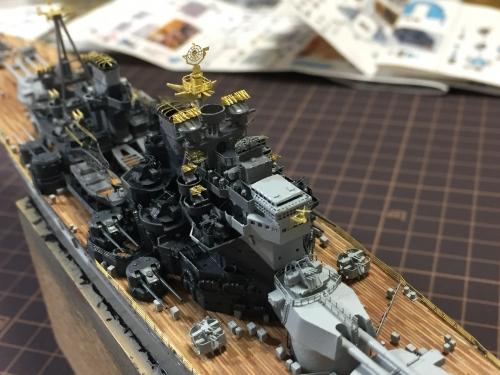 デュークオブヨーク レーダー設置_1127◆模型製作工房 聖蹟