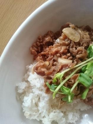 牛肉味噌炒め丼1
