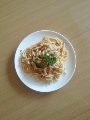 茸のスパゲッティー