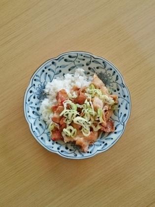 豚バラ葱飯