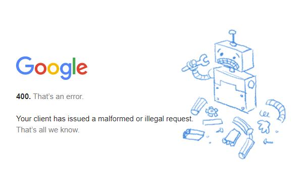 YouTubeでHTTP Error 400が出てサイトにアクセスできない時の
