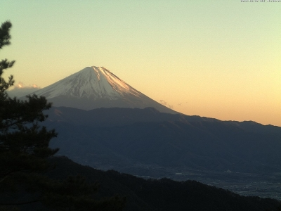 20181230 富士山方面のライブカメラ画像