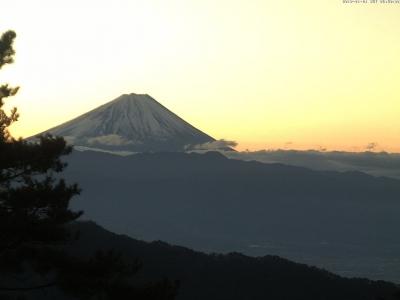 20190101 富士山方面のライブカメラ画像