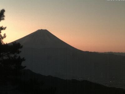 20190107富士山方面のライブカメラ画像