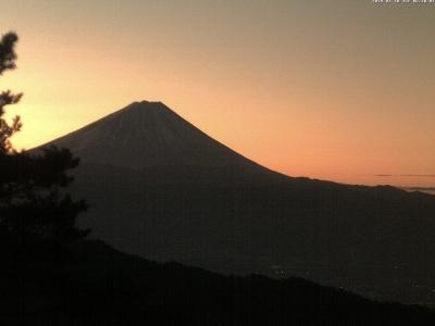 20190110富士山方面のライブカメラ画像