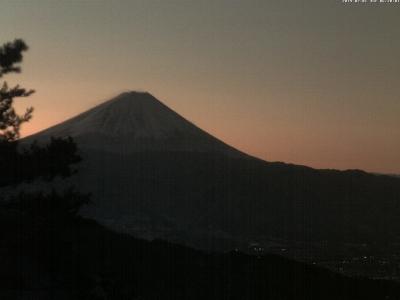 20190201 富士山方面の方面のライブカメラ画像 6:20