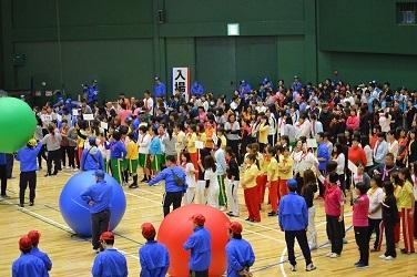 △◎◎2共済会体育祭写真(大玉リレー 全体)【H30.11.11】15-25-25