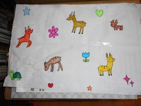かわいい鹿の絵11-11