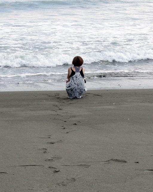 海辺にて3