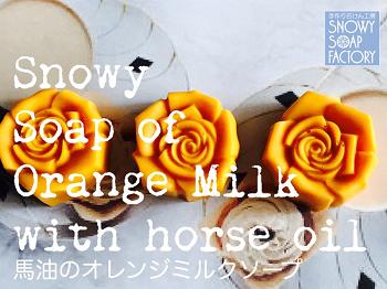 リサイズ 馬油のオレンジミルクソープ