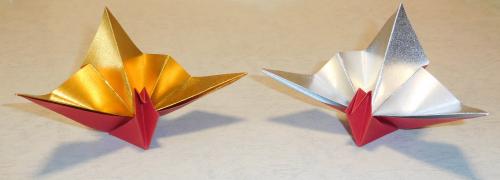 Hさん作の祝い鶴