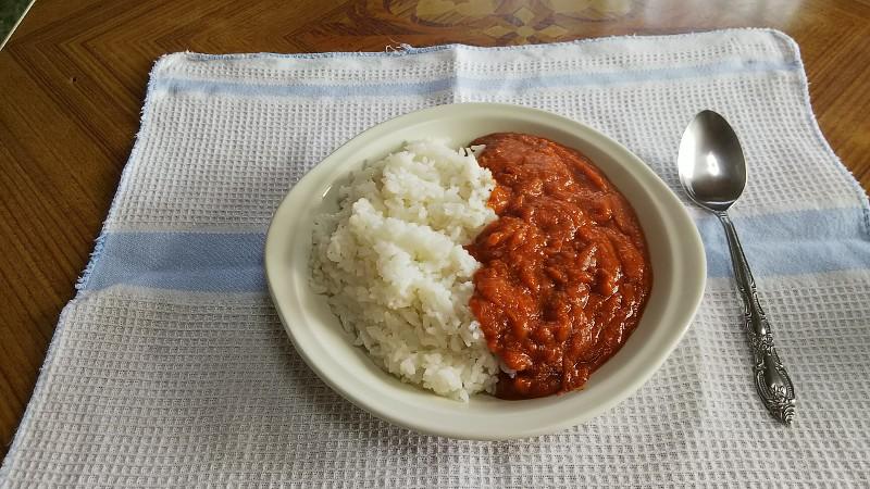 完熟トマトのガーリックカレー②201902