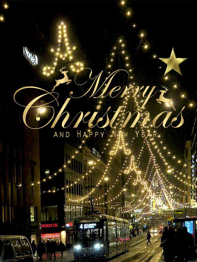 フィンランド ヘルシンキJoulukatu Aleksanterinkatu クリスマスストリート Merry Christmas メリークリスマス
