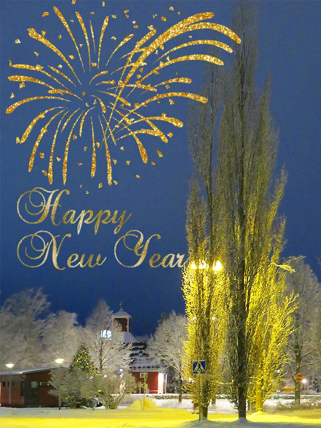 フィンランド ハッピーニューイヤー Happy New Year Hyvää uutta vuotta