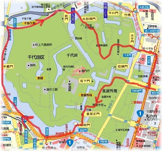 皇居の地図