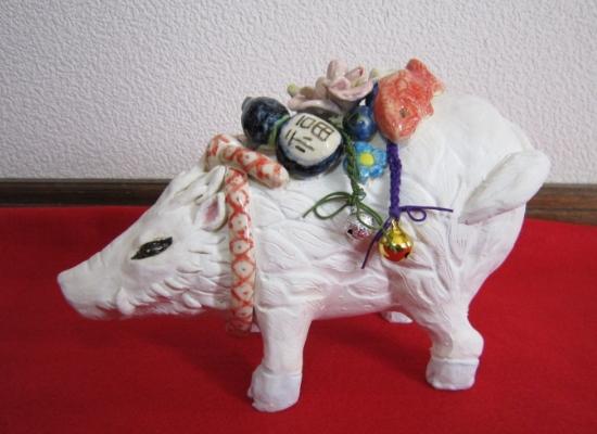 干支の置物 亥2#すず音窯#陶器 #陶猫芸家めいこ