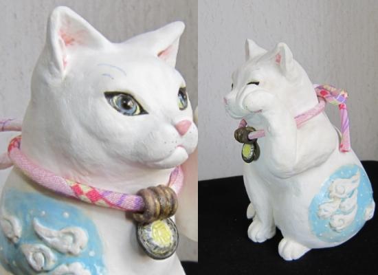 雲模様の招き猫 #すず音窯#陶器 #陶猫芸家めいこ #猫作家 #かわいい