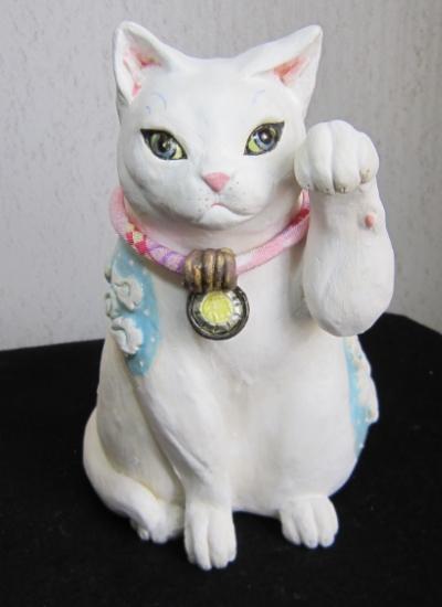 雲模様の招き猫 1#すず音窯#陶器 #陶猫芸家めいこ #猫作家 #cat