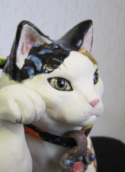 おしゃれな招き猫 波模様2