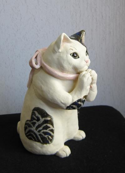 可愛いお祈り猫