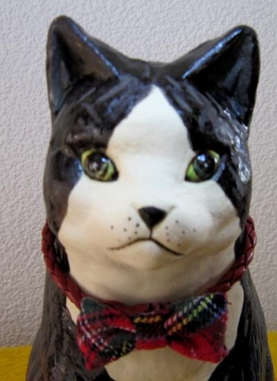 タキシード猫#すず音窯#陶器 #陶芸作家めいこ#Tuxedo cat